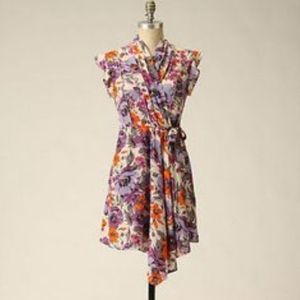 Pinkerton Florsl Silk Wrap dress